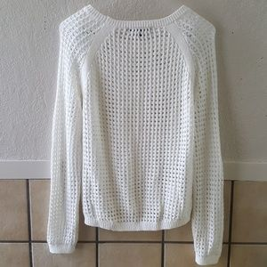 Sanctuary Sweaters - Sanctuary clothing white open knit sweater small